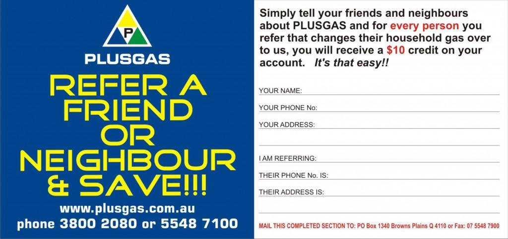 Plusgas refer a friend